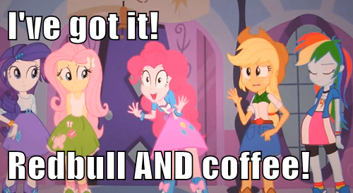 equestria girls red bull pinkie pie coffee - 7625483776