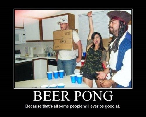 wtf Party beer pong idiots funny - 7625521664