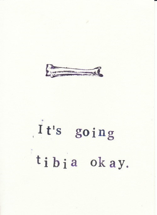bones,greeting cards,puns,tibia,funny