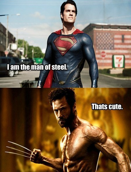wolverine man of steel funny adamantium - 7625668096