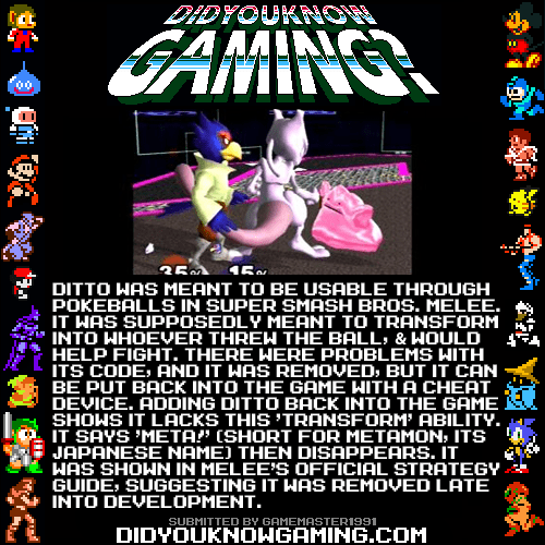 Pokémon,did you know gaming,super smash bros,video games,ditto