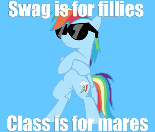 class,swag,rainbow dash