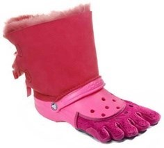 toe socks,uggs,crocs,ugly shoes,funny