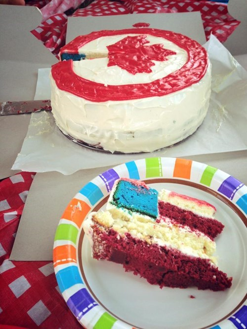 cake merica oh canada 4th of july canada day - 7625756672