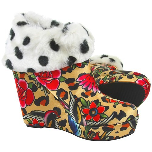 shoes leopard print floral funny - 7625812736
