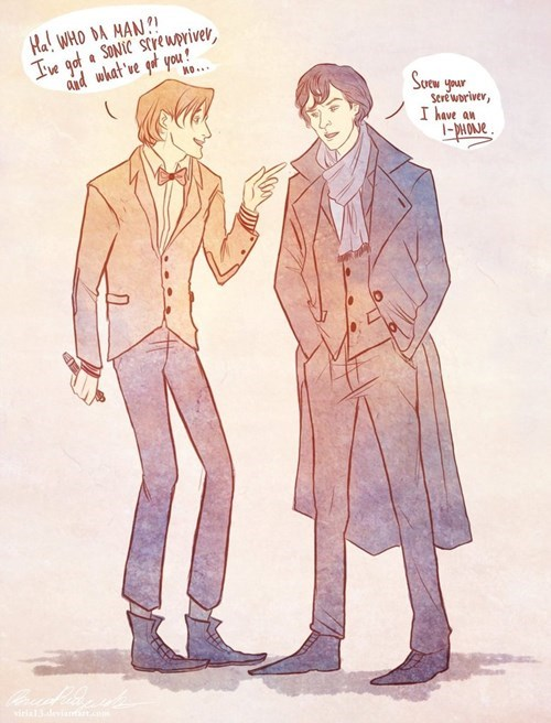 crossover Fan Art doctor who Sherlock - 7625834240