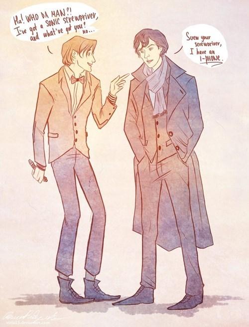 crossover Fan Art doctor who Sherlock - 7625834240