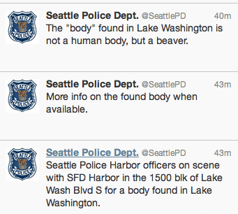 Seattle Police Mistake Beaver for Human Body