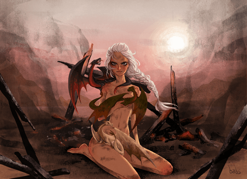 Game of Thrones Fan Art Daenerys Targaryen - 7626022656