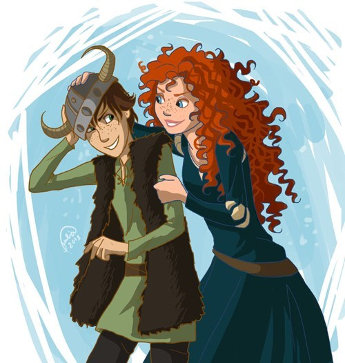 brave disney Fan Art cartoons dreamworks How to train your dragon - 7626023680