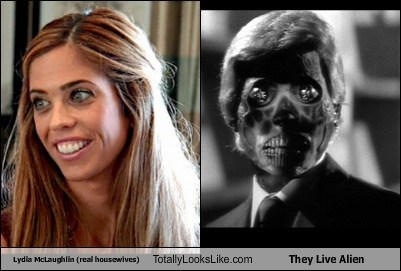 Lydia McLaughlin (real housewives) Totally Looks Like They Live Alien
