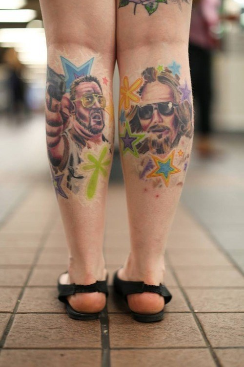 the big lebowski,tattoos,funny,the dude,g rated,Ugliest Tattoos