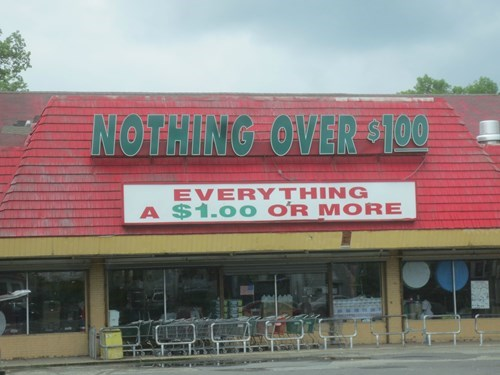 sign,dollar store,funny