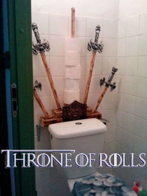 Game of Thrones nerdgasm toilet iron throne - 7626220800