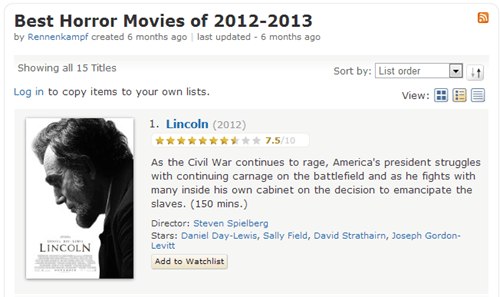 IMDB Has its Own Classification System