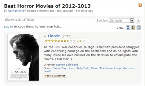 horror abraham lincoln imdb funny - 7626333440