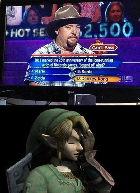 legend of zelda facepalm bad answer Videogames funny - 7626420736