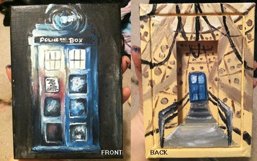 art Fan Art tardis doctor who painting - 7626753536