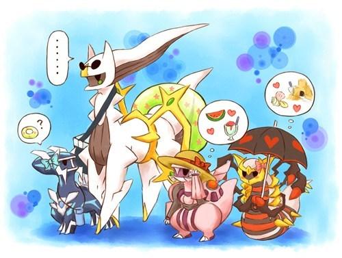 Pokémon dialga art legendaries giratina arceus palkia - 7627319040