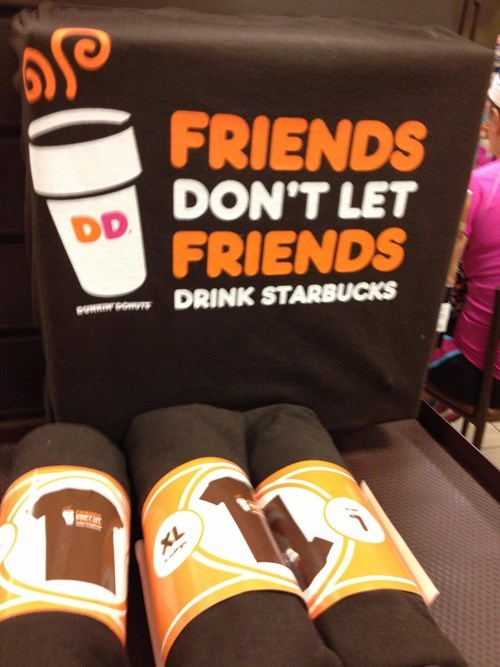 Starbucks hardball shirts dunkin donuts monday thru friday g rated - 7628340736