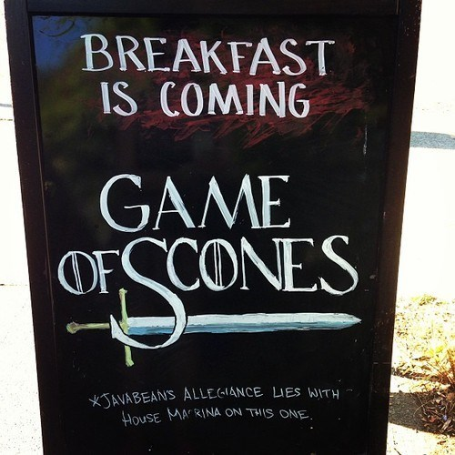 breakfast Game of Thrones scones puns funny - 7628437248