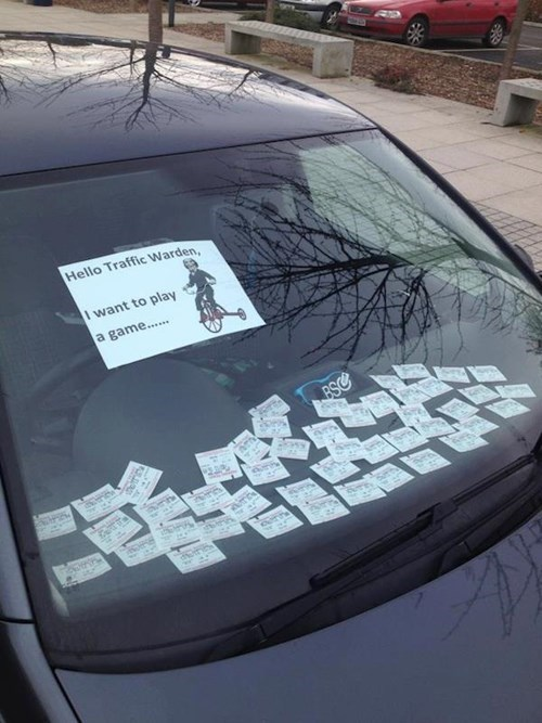 traffic warden parking tickets parking