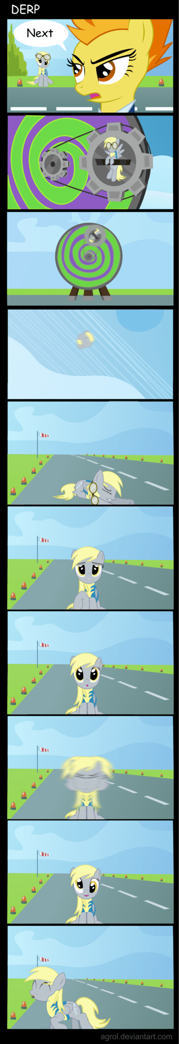 dizzy,derpy hooves,comics,derp