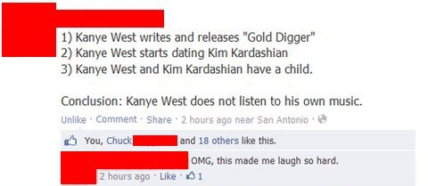 kim kardashian,gold digger,kanye west,north west,failbook,g rated