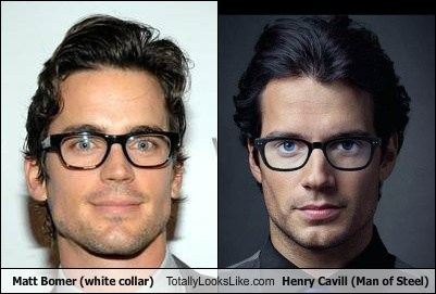 5671053796aad Matt Bomer (white collar) Totally Looks Like Henry Cavill (Man of ...