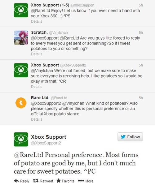 twitter xbox support wtf potatoes xbox support xbox support