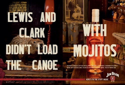 whiskey,mojitos,ads,jim beam,funny