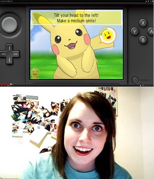 overly attached girlfriend pokemon-amie Memes pikachu