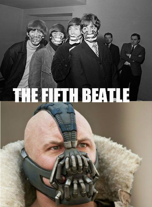 the Beatles face masks bane funny