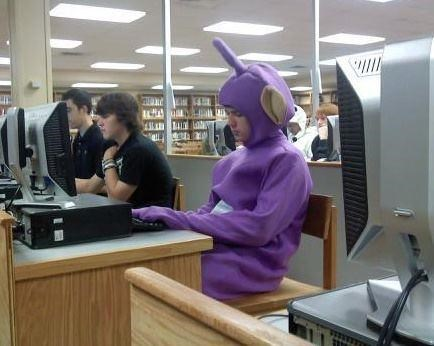teletubbies disturbing Tinky Winky work unsafe work environment funny - 7628813312