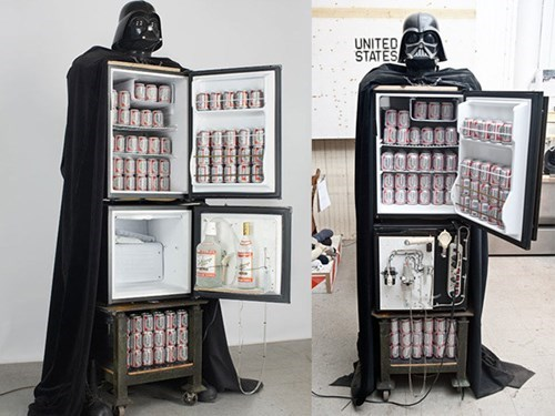 beer,star wars,DIY,fridge