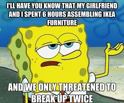 SpongeBob SquarePants ikea relationships Memes dating - 7629025536