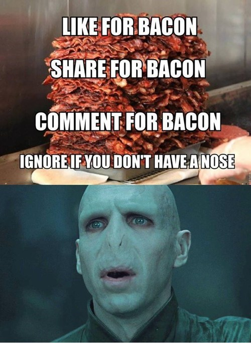 Harry Potter voldemort bacon - 7629141760