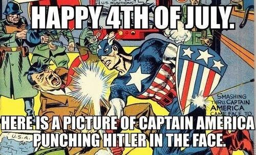4th of july captain america funny - 7629318912