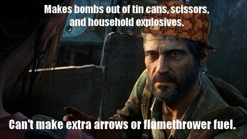joel the last of us video game logic