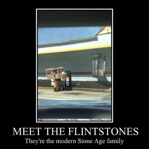 flintstones,drive thru,funny