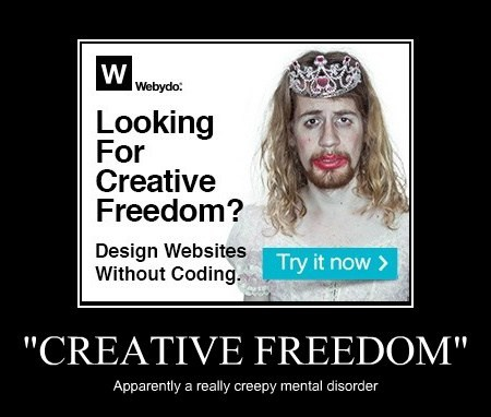 """CREATIVE FREEDOM"" Apparently a really creepy mental disorder"