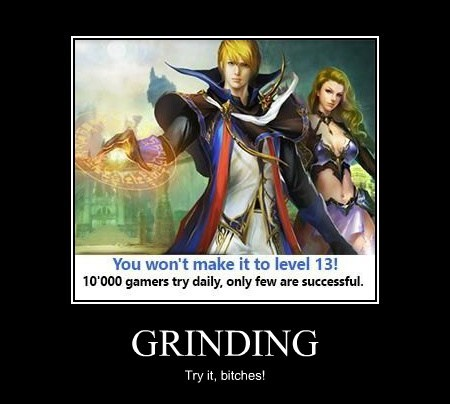 boring grinding video games funny