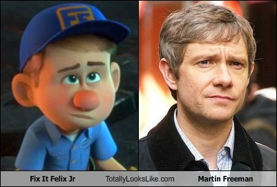 Martin Freeman totally looks like funny fix it felix