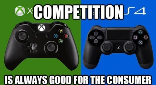 competition,PlayStation 4,console wars,consoles,xbox one