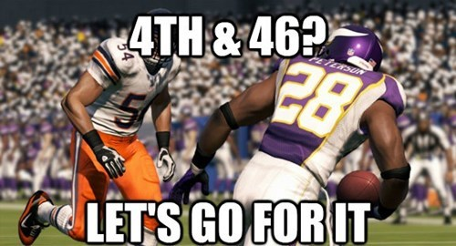 madden,4th down,video game logic