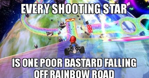 rainbow road,kart,mario