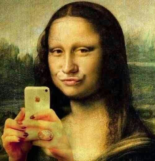 selfie mona lisa funny - 7634627328