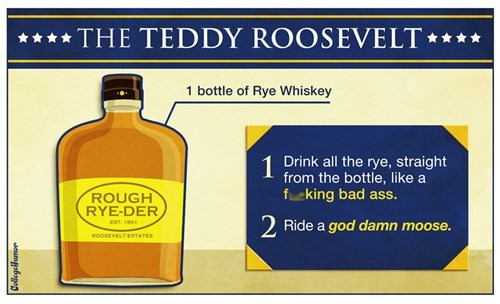 whiskey,president,teddy roosevelt,funny,cocktail