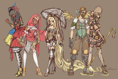 fairy tales,Steampunk,Fan Art