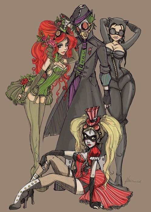Steampunk DC Fan Art batman - 7634751488